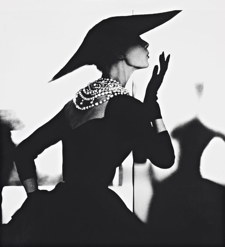 Lillian Bassman Black and White Photograph - Barbara Mullen, Blowing Kiss, New York
