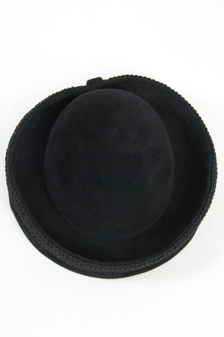 Lilly Daché Black Velour Hat For Sale 2