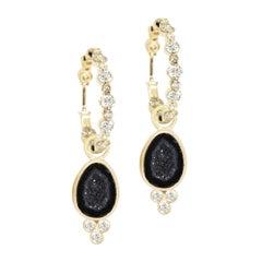Lilly Geode 18 Karat Gold Earrings