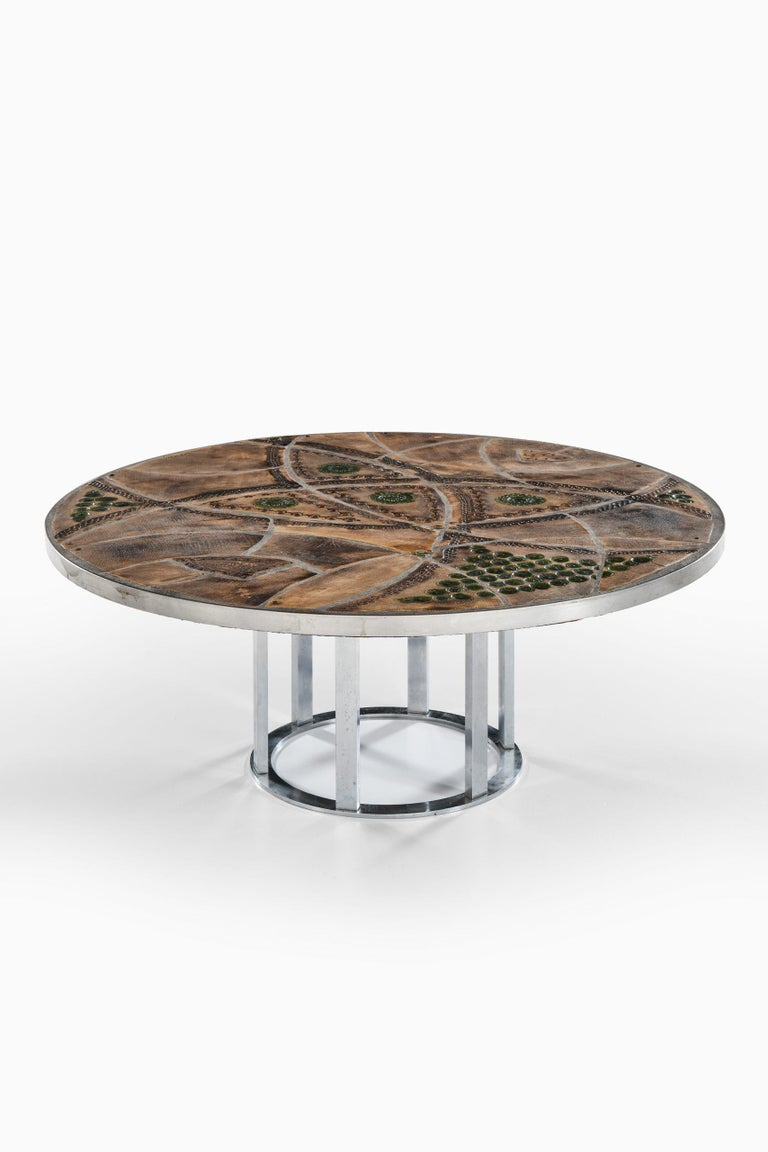 Ceramic Lilly Just Lichtenberg Coffee Table Produced in Denmark For Sale