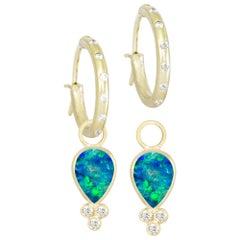 Lilly Opal 18 Karat Gold Earrings