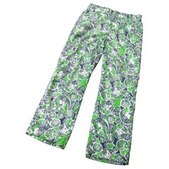 Lilly Pulitzer Men's Tiger Print Trousers Circa 1970s