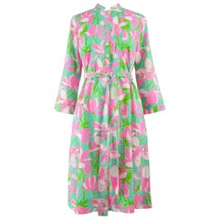 Lilly Pulitzer The 'Lily' Turquoise, Pink & Green Tropical Belted Shift Dress