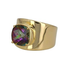 Lilly Ring in 18K Gold with Mystic Topaz
