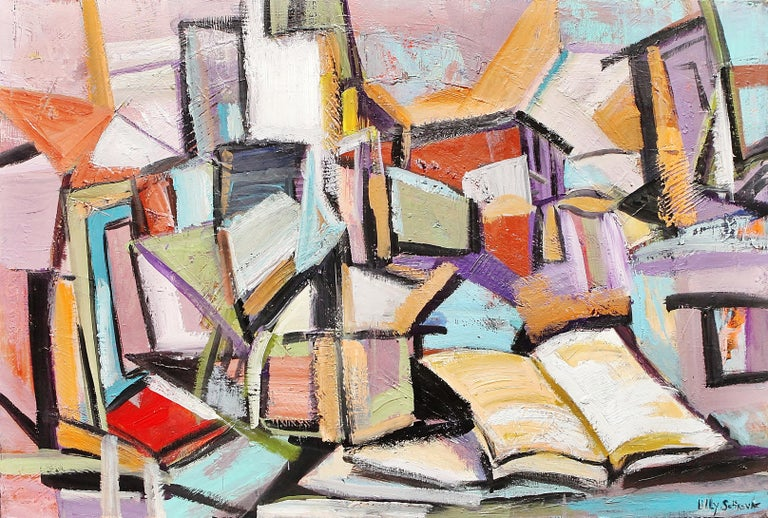 Lilly Sotirova Abstract Painting - The Atmosphere Of Knowledge