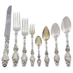 Lily by Whiting Sterling Silver Flatware Set for 8 Dinner Service 72 Pcs