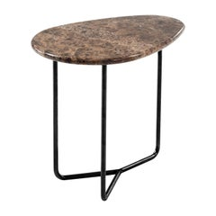 Lily Dark Emperador Marble Side Table by Marc Thorpe