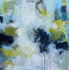Talk Around Town by Lily Harrington, Large Abstract Painting on Canvas