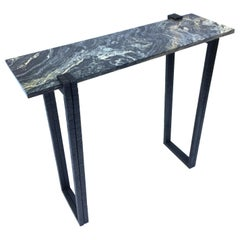 Lily Marble Console, Signed by Stefan Leo