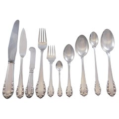 Lily of the Valley by Georg Jensen Sterling Silver Flatware Set Service 66 Pcs