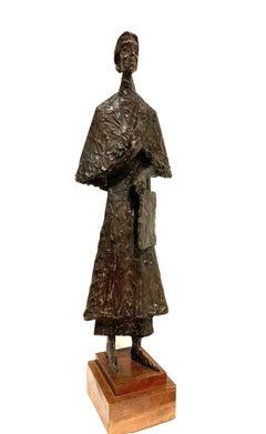 Bronze Sculpture Standing Woman