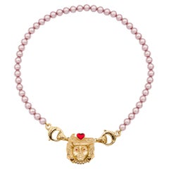 Lily small pink swarovski laminated pearl necklace NWOT