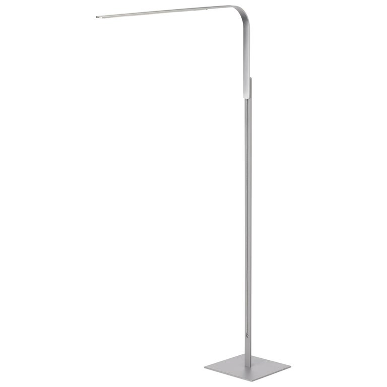 Lim L Floor Lamp In Brushed Silver By Pablo Designs For