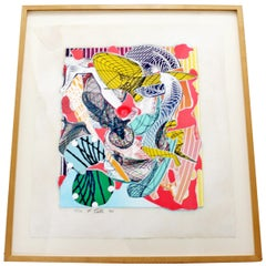 Limanora Silkscreen Framed and Signed by Frank Stella Dated 1994