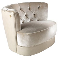 Limbo Armchair in Fabric by Roberto Cavalli Home Interiors