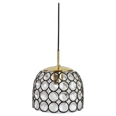 1 of 2 Limburg Glashütte Black Iron Rings Glass & Brass Pendant Lights/Lamps