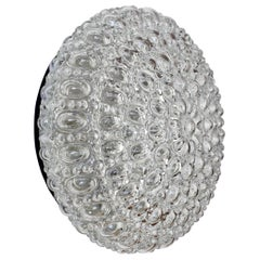 Limburg Vintage Clear Bubble Glass Flush Mount Wall Lights or Lamps, circa 1970s