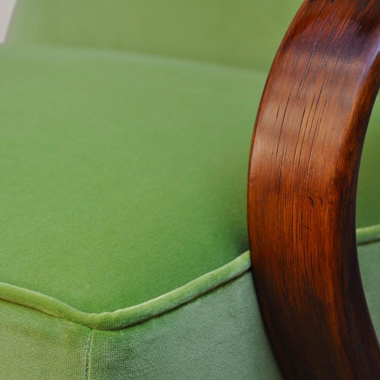 Italian Lime Bentwood Armchair For Sale