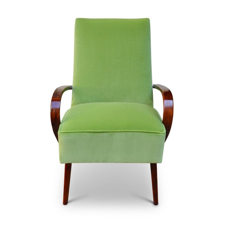 Lime Bentwood Armchair In Excellent Condition For Sale In Milan, IT