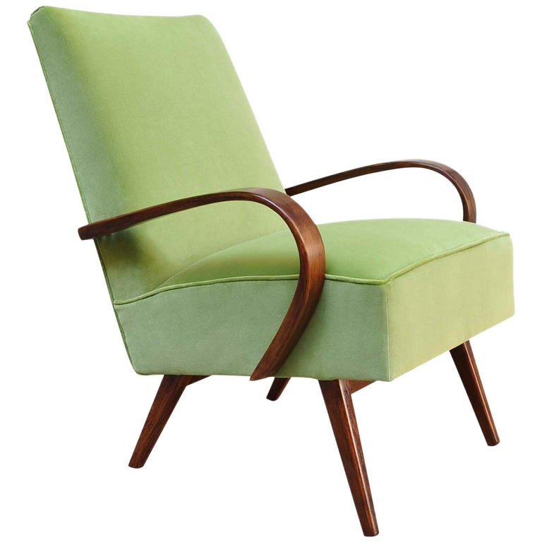 Lime Bentwood Armchair For Sale