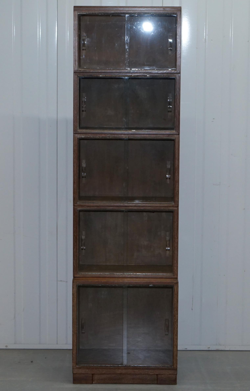 Gekalkte Eiche Modulares Antikes Oxford Stapel Bücherregal, Circa 1930er  Jahre 2
