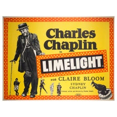Limelight 1952 UK Quad Charles Chaplin Film Poster