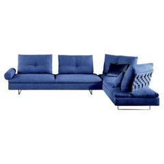 Limes velvet sofa, designed by Sergio Bicego