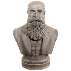 Limestone Life-Size Banker Bust