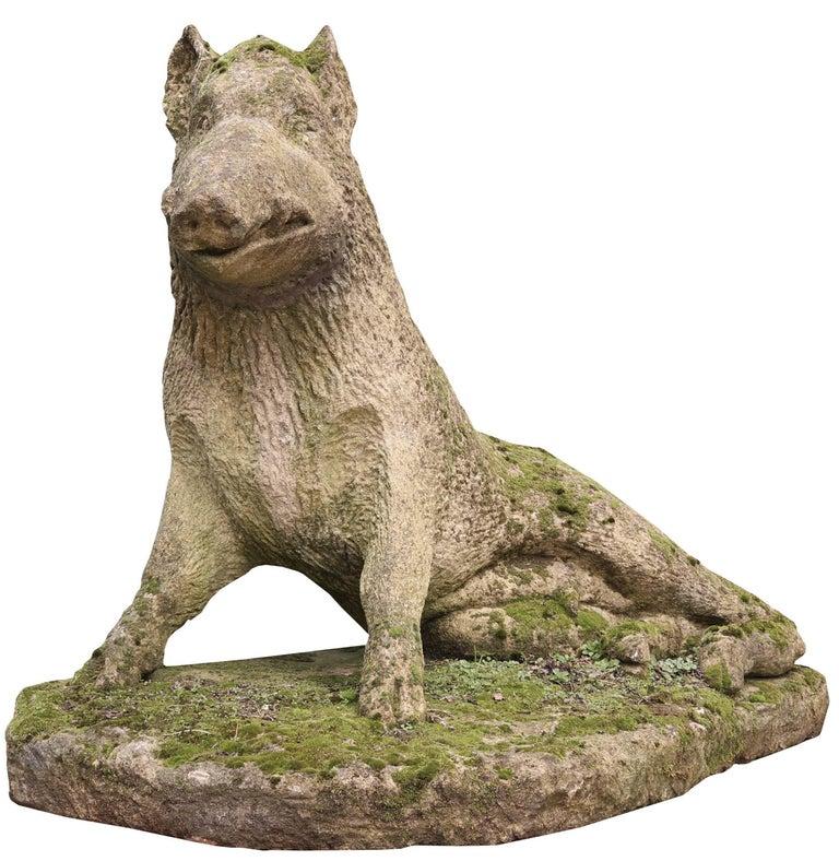 Limestone Statue of the Uffizi Boar In Fair Condition For Sale In Wormelow, Herefordshire