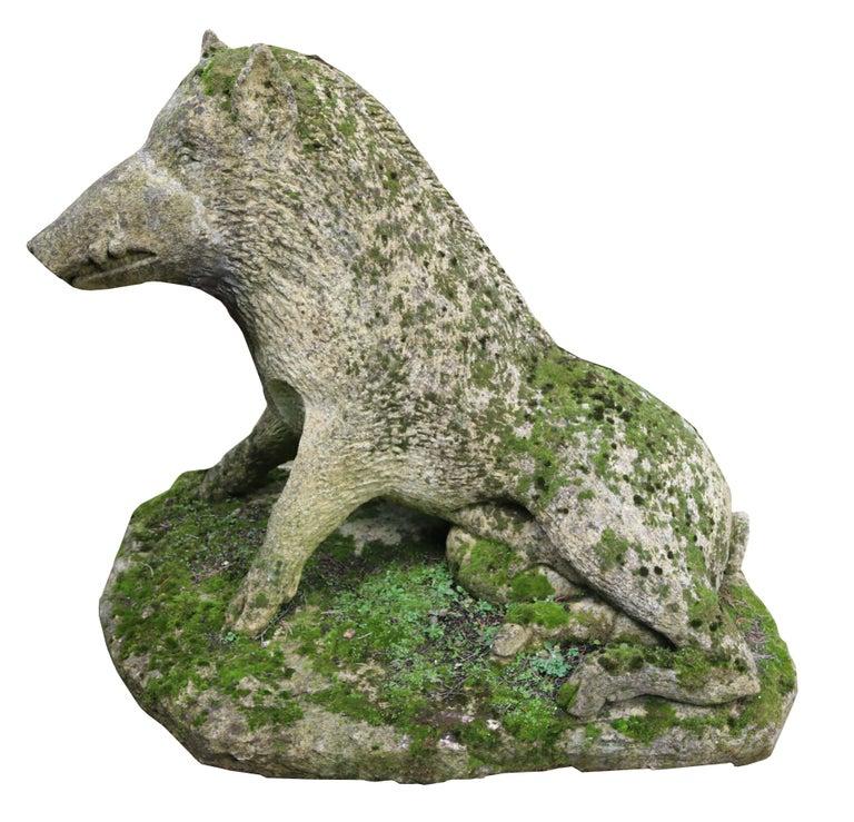 Limestone Statue of the Uffizi Boar For Sale 1
