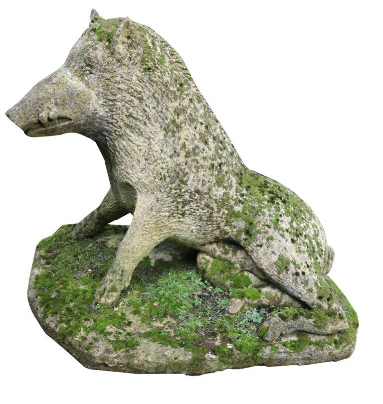 Limestone Statue of the Uffizi Boar For Sale 2