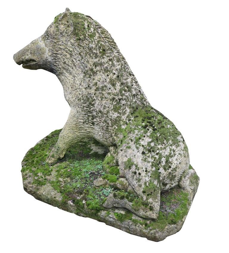 Limestone Statue of the Uffizi Boar For Sale 3