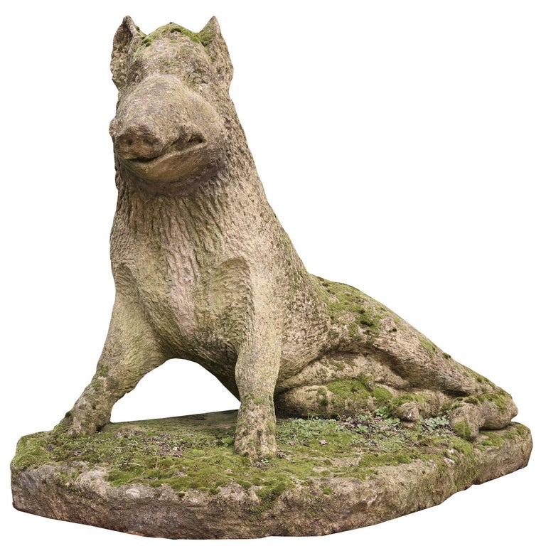 Limestone Statue of the Uffizi Boar For Sale