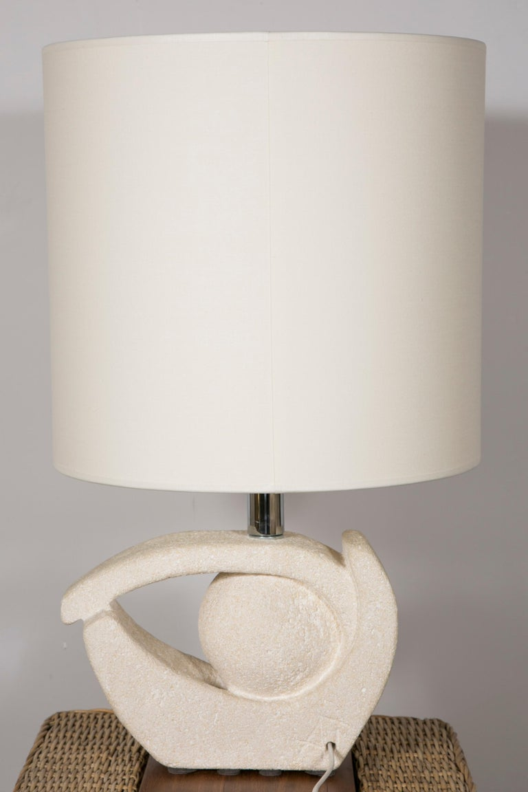 Late 20th Century Limestone Table Lamp by Albert Tormos For Sale