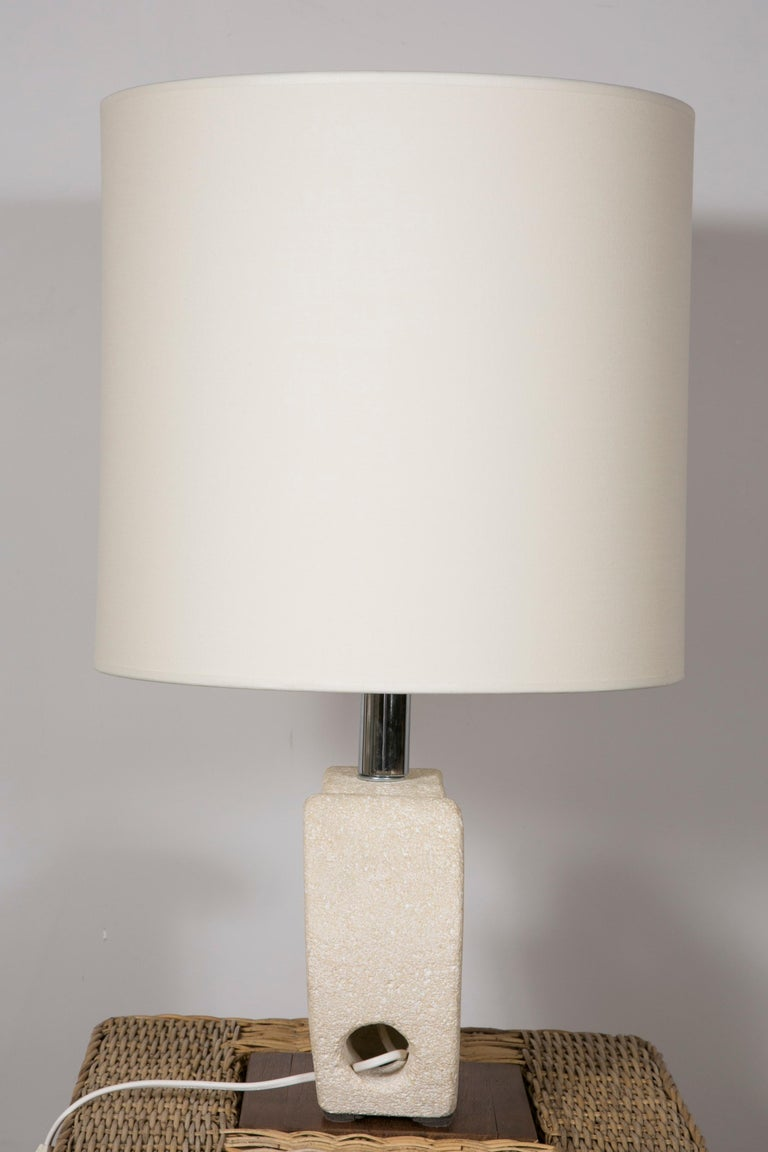 Limestone Table Lamp by Albert Tormos For Sale 1