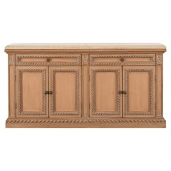 Limestone Top Credenza Attributed to Kreiss, 1980s