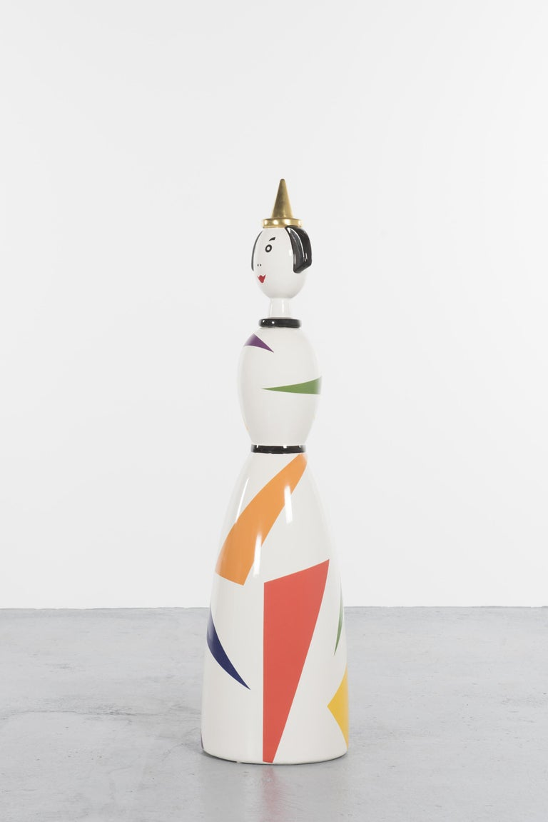 Mid-Century Modern Limited and Rare Ceramic Named Anna Harlequin by Alessandro Mendini For Alessi For Sale