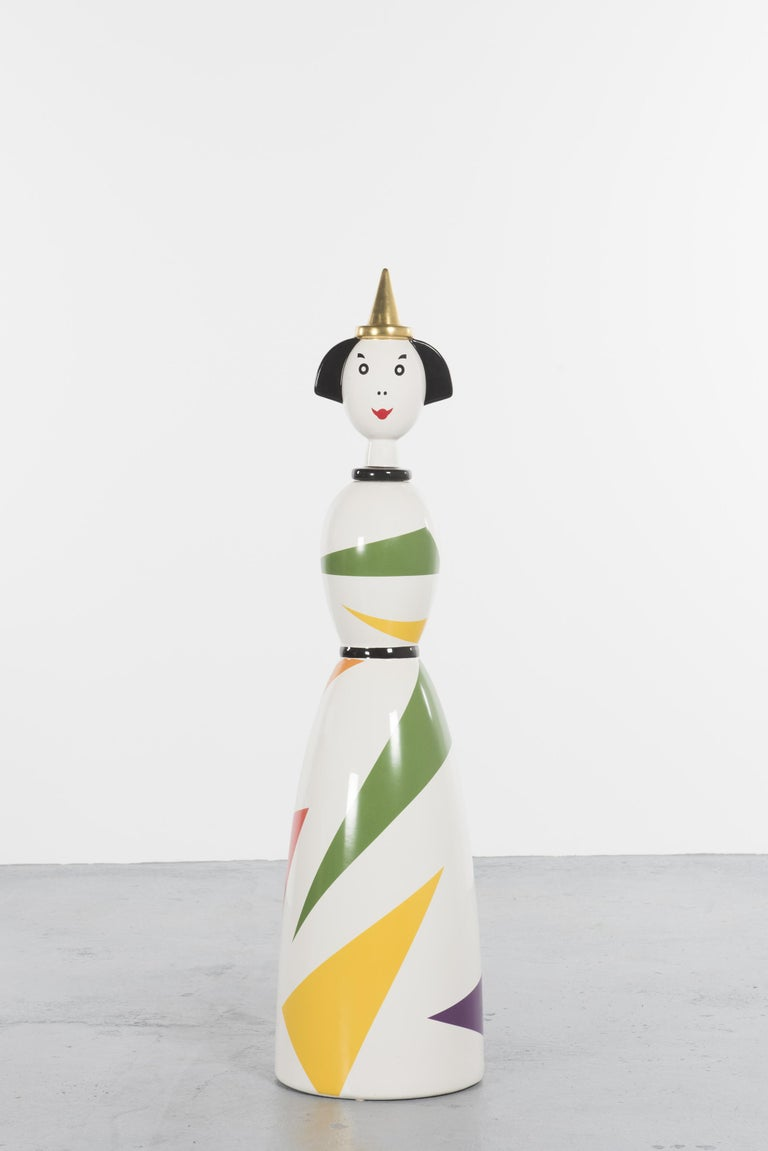 Italian Limited and Rare Ceramic Named Anna Harlequin by Alessandro Mendini For Alessi For Sale