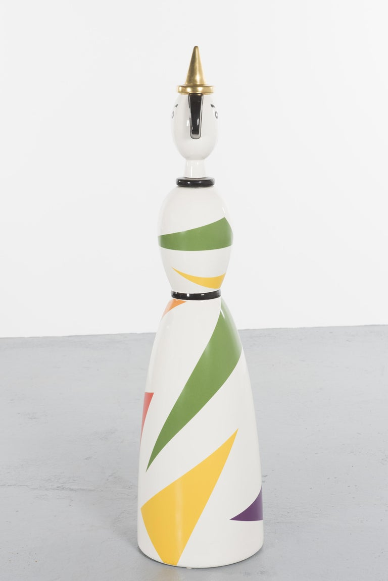 Late 20th Century Limited and Rare Ceramic Named Anna Harlequin by Alessandro Mendini For Alessi For Sale
