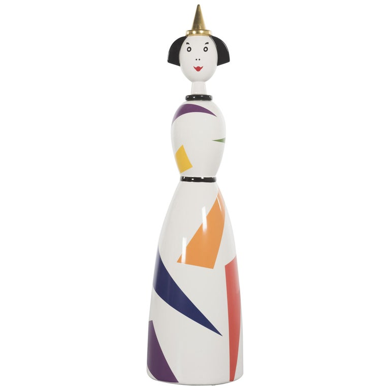 Limited and Rare Ceramic Named Anna Harlequin by Alessandro Mendini For Alessi For Sale