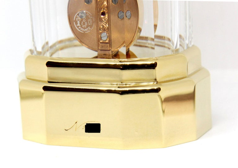 Limited Baccarat x Corum Golden Bridge Crystal Skeletonized Timepiece Clock In Good Condition For Sale In Switzerland, CH