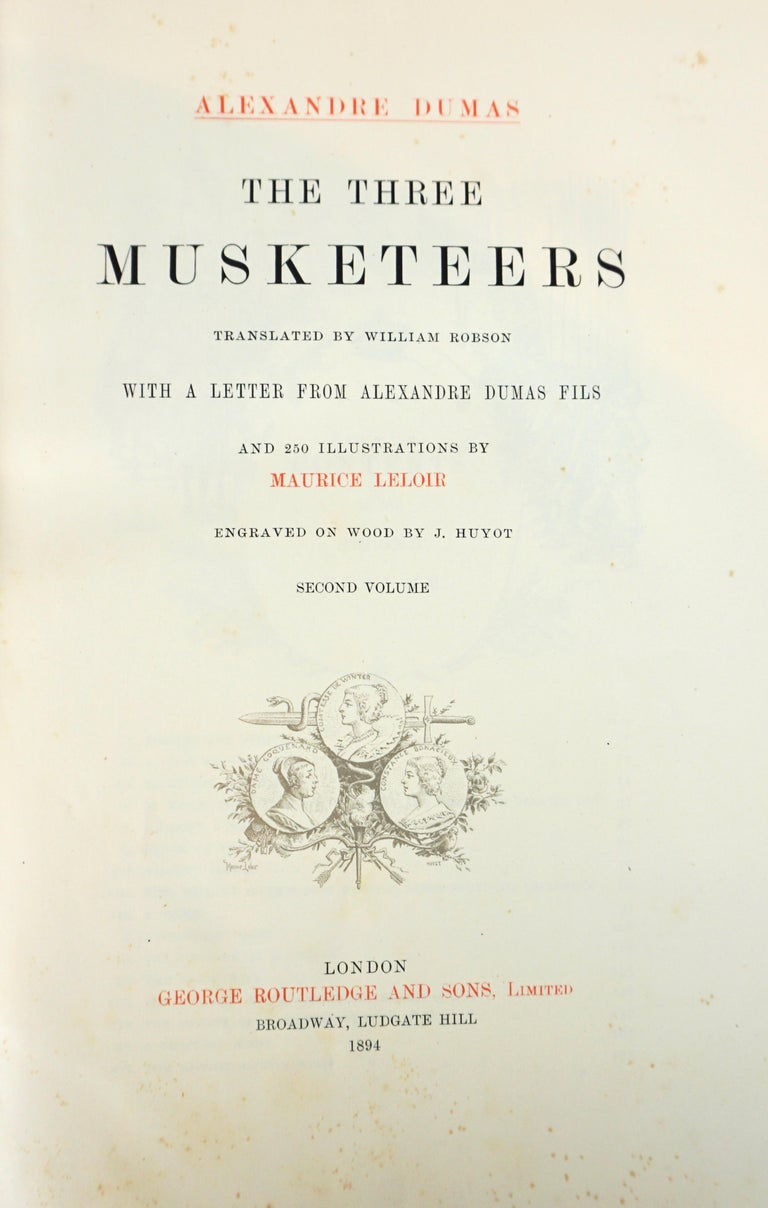 Limited Deluxe Edition of Dumas' Three Musketeers in 2 Leather Bound Volumes For Sale 11