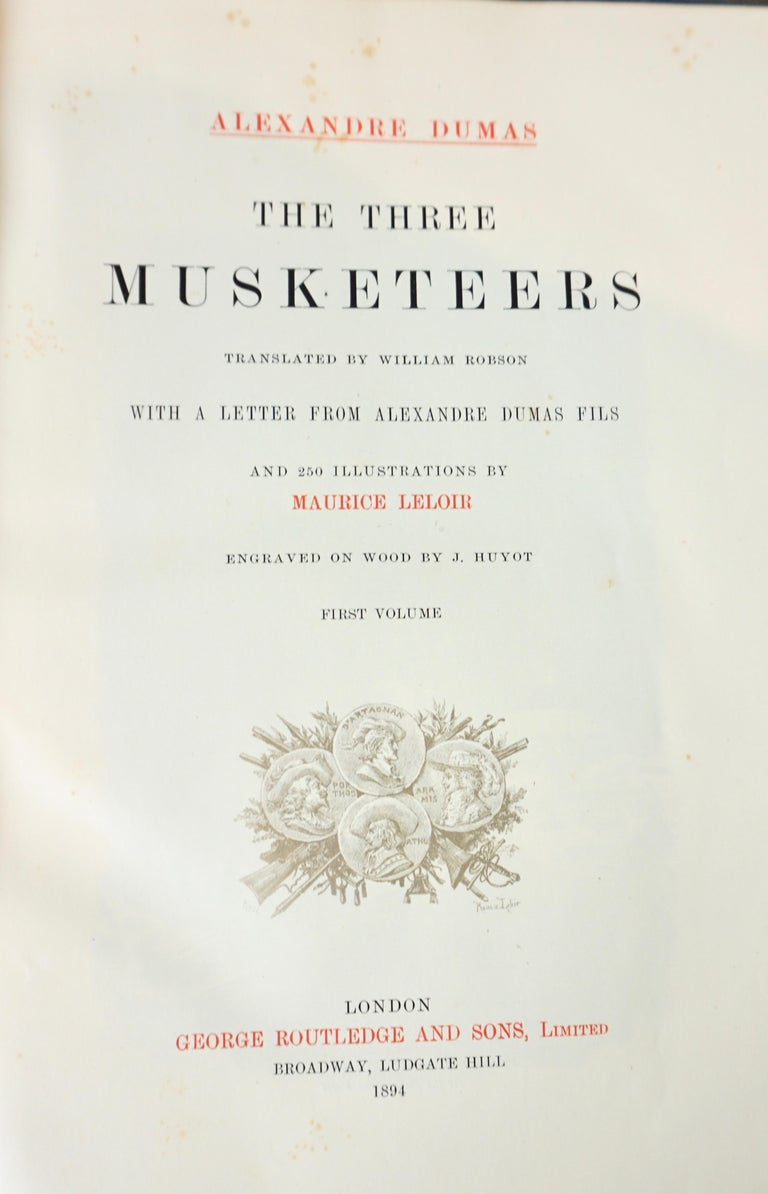 Limited Deluxe Edition of Dumas' Three Musketeers in 2 Leather Bound Volumes For Sale 12