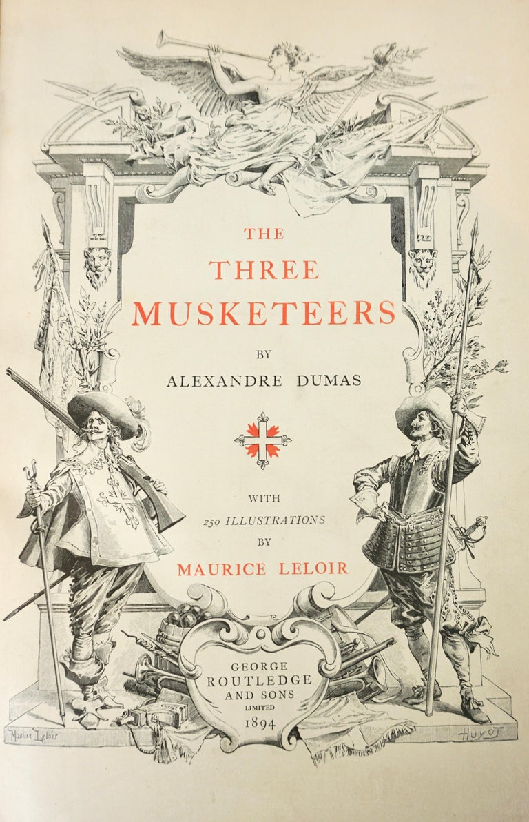 Limited Deluxe Edition of Dumas' Three Musketeers in 2 Leather Bound Volumes For Sale 13