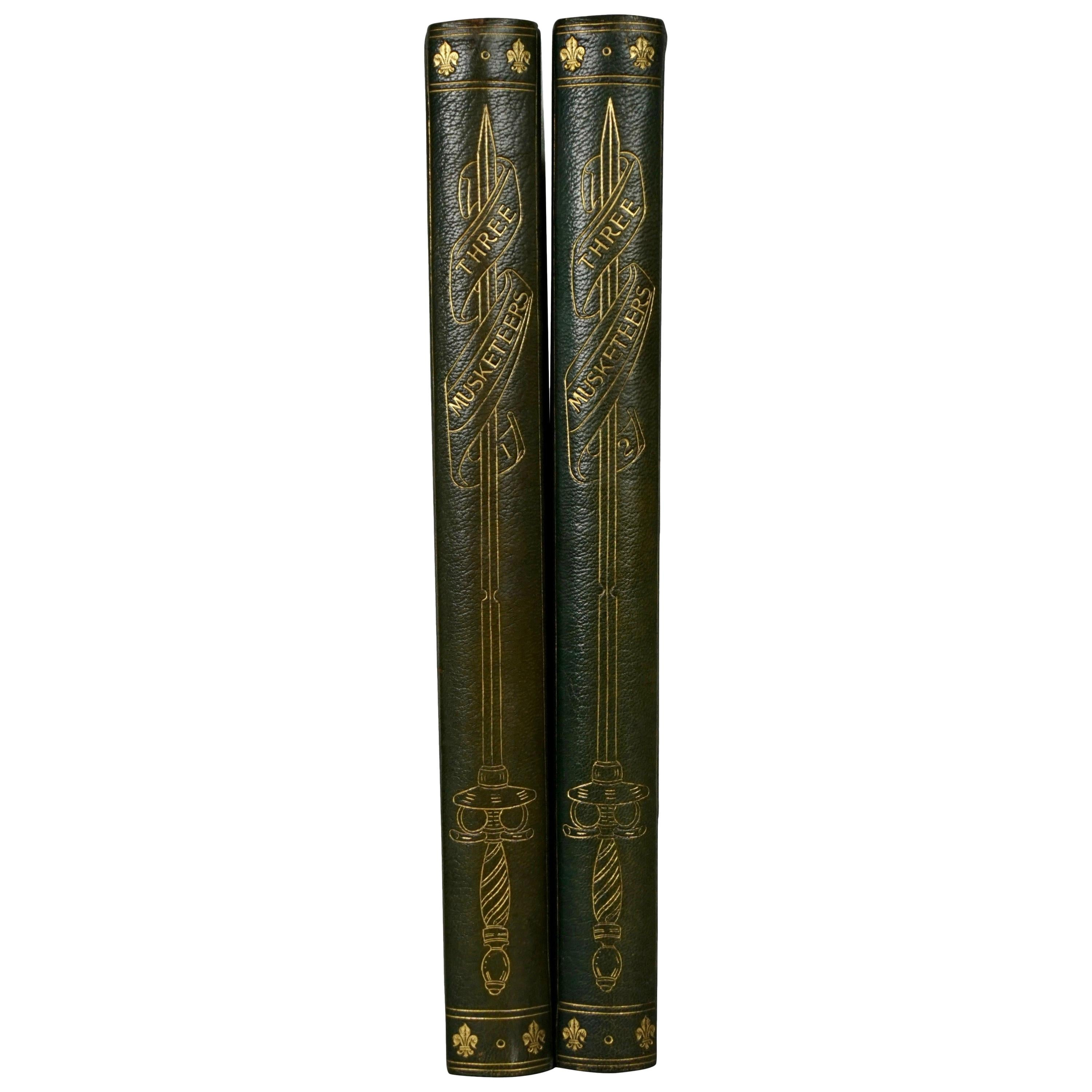 Limited Deluxe Edition of Dumas' Three Musketeers in 2 Leather Bound Volumes