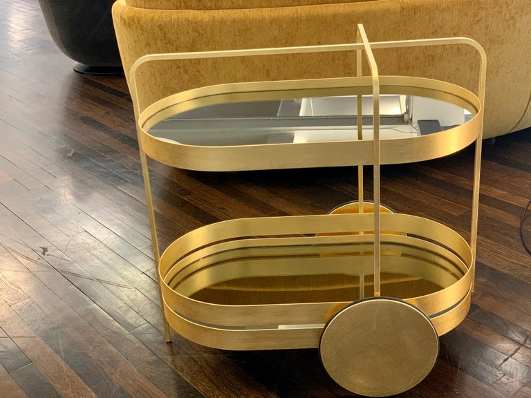 Limited Edition 1 of 50 Schonbuch Gold Grace Trolley by Sebastian Herkner In Excellent Condition For Sale In New York, NY