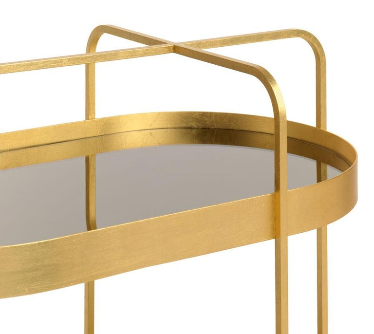 Contemporary Limited Edition 1 of 50 Schonbuch Gold Grace Trolley by Sebastian Herkner For Sale