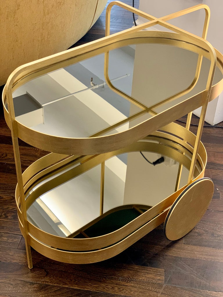 Glass Limited Edition 1 of 50 Schonbuch Gold Grace Trolley by Sebastian Herkner For Sale