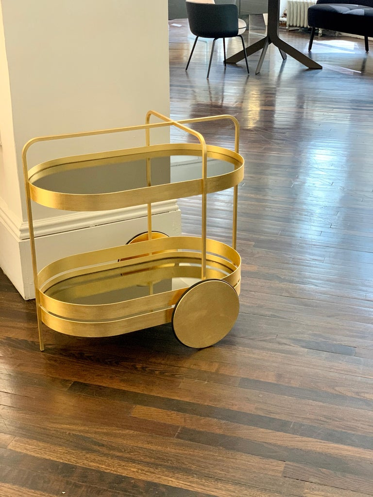 Limited Edition 1 of 50 Schonbuch Gold Grace Trolley by Sebastian Herkner For Sale 2