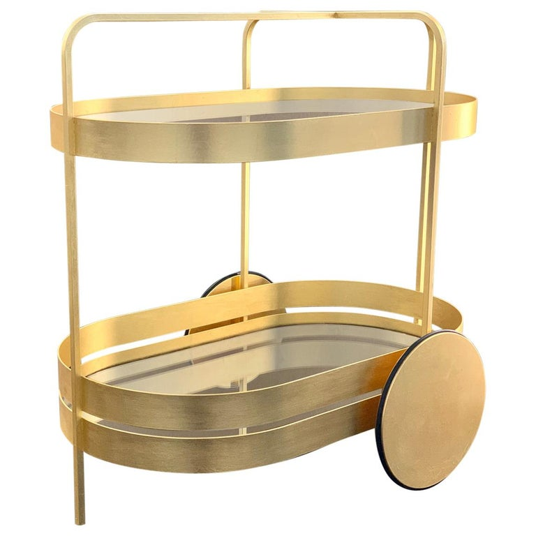 Limited Edition 1 of 50 Schonbuch Gold Grace Trolley by Sebastian Herkner For Sale